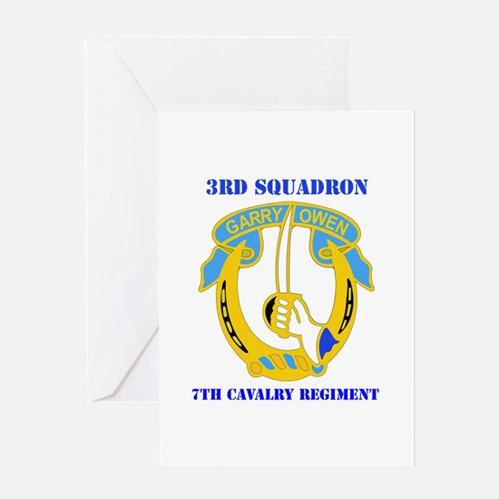 DUI - 3rd Sqdrn - 7th Cavalry Regt with Text Greet