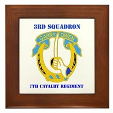 DUI - 3rd Sqdrn - 7th Cavalry Regt with Text Frame
