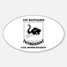 DUI - 1st Bn - 64th Armor Regt with Text Decal