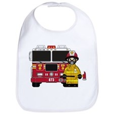 Firefighter and Fire Engine Bib