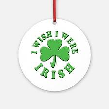 Irish Wish Ornament (Round)