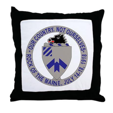 DUI - 1st Bn - 30th Infantry Regt Throw Pillow