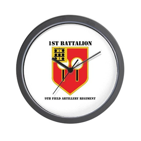 DUI - 1st Bn - 9th FA Regt with Text Wall Clock