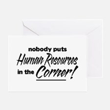 HR Nobody Corner Greeting Cards