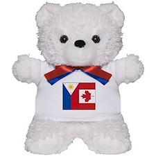 PI Flag & Canada Flag Teddy Bear