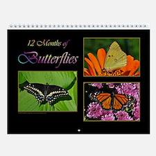 12 Months of Butterflies Wall Calendar