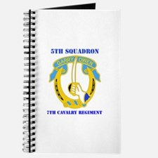 DUI - 5th Sqdrn - 7th Cavalry Regt with Text Journ