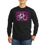 Bicycling Long Sleeve Dark T-Shirt