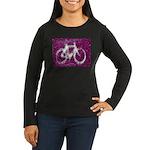 Bicycling Women's Long Sleeve Dark T-Shirt