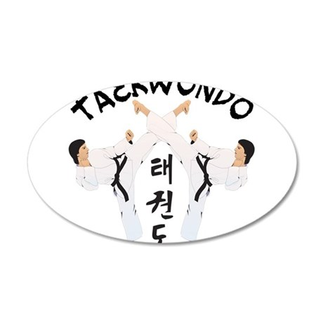 Taekwondo 38.5 x 24.5 Oval Wall Peel