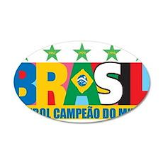 Brazilian World cup soccer 22x14 Oval Wall Peel