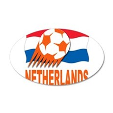 NETHERLANDS SOCCER 22x14 Oval Wall Peel