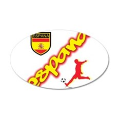 Spain World cup champions 22x14 Oval Wall Peel