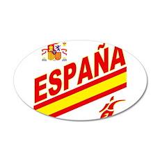 Spainish Soccer 22x14 Oval Wall Peel