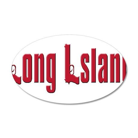 Long Island, New York 22x14 Oval Wall Peel