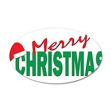 Merry Christmas 22x14 Oval Wall Peel