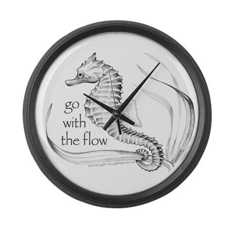 Go with the flow Large Wall Clock