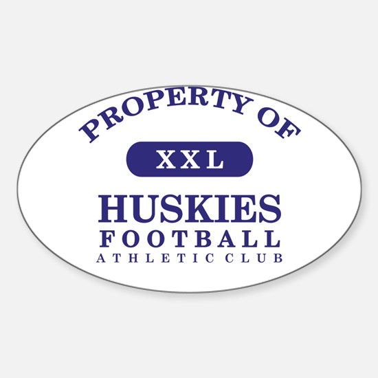 Property of Huskies Sticker (Oval)