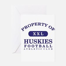 Property of Huskies Greeting Card