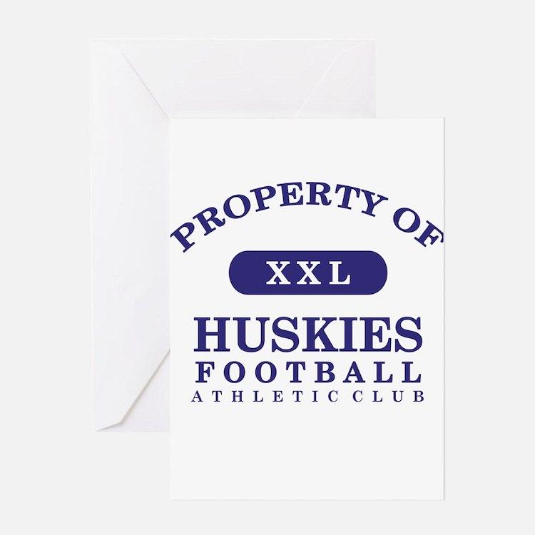 Property of Huskies Greeting Card