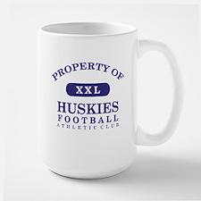 Property of Huskies Large Mug