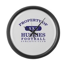 Property of Huskies Large Wall Clock