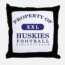 Property of Huskies Throw Pillow