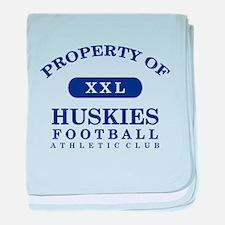 Property of Huskies baby blanket