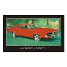 69 Red Charger Painting Decal