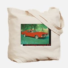 69 Red Charger Painting Tote Bag