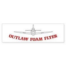 Outlaw Foam Flyer Bumper Sticker