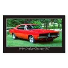 69 Red Charger Photo Decal