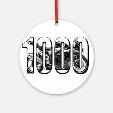 Suzuki GSXR 1000 Black Ornament (Round)