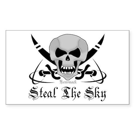 Aviation - Steal The Sky Skul Sticker (Rectangular