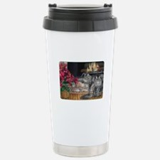 Maine Coon Cat Christmas Stainless Steel Travel Mu