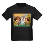 Angels with Yorkie Kids Dark T-Shirt