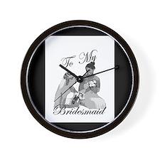 Bridesmaid Thank You #1 Wall Clock