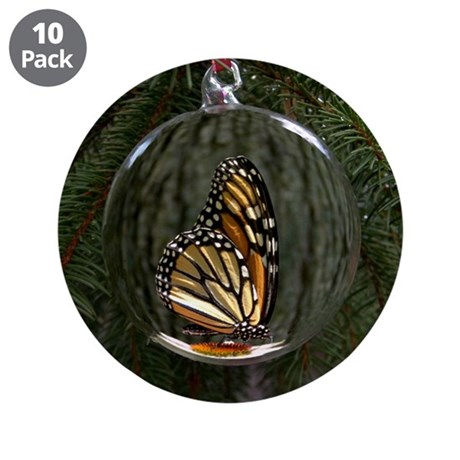 "Monarch Butterfly Christmas 3.5"" Button (10 p"