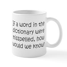 Misspelled word in Dictionary Mug