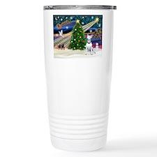 Xmas Magic/Bull Terrier Travel Coffee Mug
