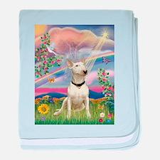 Cloud Angel/Bull Terrier baby blanket