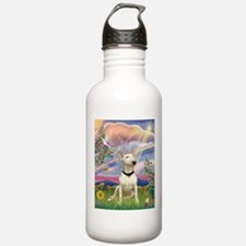 Cloud Angel/Bull Terrier Water Bottle