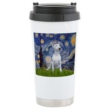 Starry Night/Bull Terrier Travel Mug