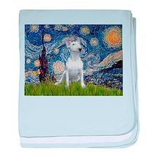 Starry Night/Bull Terrier baby blanket