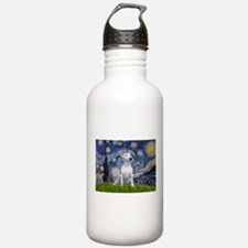 Starry Night/Bull Terrier Water Bottle