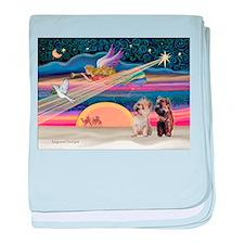 XmasStar/2 Cairn Terriers baby blanket