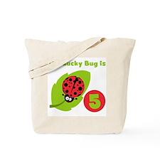 Lucky Bug 5th Birthday Tote Bag