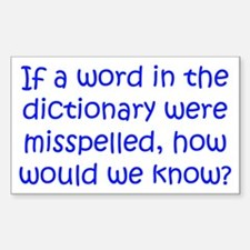 Misspelled word in Dictionary Sticker (Rectangle)