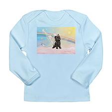 Clouds/Cairn Terrier Long Sleeve Infant T-Shirt