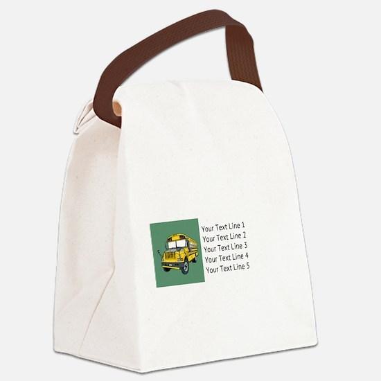 Funny School Canvas Lunch Bag